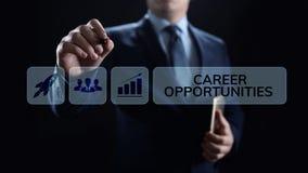 Conceito pessoal do negócio do crescimento da oportunidade da carreira na tela imagens de stock royalty free