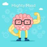Conceito poderoso da mente Cérebro com grande criativo ilustração royalty free