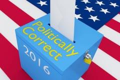 Conceito politicamente correto da eleição Fotos de Stock