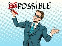 Conceito possível impossível do negócio ilustração do vetor
