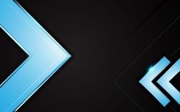 Conceito preto metálico da disposição do fundo do projeto do carbono do quadro azul do vetor ilustração royalty free
