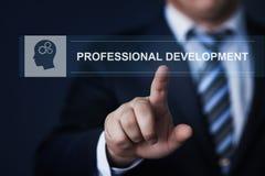 Conceito profissional da tecnologia do Internet do negócio do treinamento do conhecimento da educação de desenvolvimento Fotografia de Stock Royalty Free