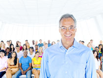 Conceito profissional do seminário da liderança adulta superior Imagem de Stock Royalty Free