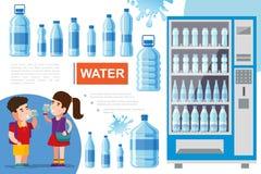 Conceito puro liso da água ilustração stock