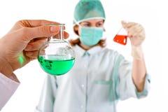 Conceito químico da pesquisa fotografia de stock
