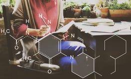 Conceito químico de Mendeleev da química da tabela periódica fotos de stock royalty free