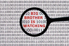 O big brother está olhando Fotografia de Stock Royalty Free