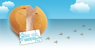 Conceito quebrado da ilustração do ovo Imagem de Stock