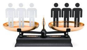 Conceito racial da igualdade, rendição 3D ilustração stock