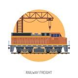Conceito Railway do frete ilustração stock