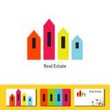 Conceito real do logotipo da agência imobiliária Foto de Stock