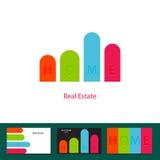 Conceito real do logotipo do investimento da agência imobiliária Imagem de Stock