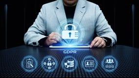 Conceito regulamentar da tecnologia do Internet do negócio da proteção de dados geral de GDPR Fotos de Stock Royalty Free