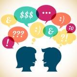 Conceito retro de uma comunicação Imagem de Stock Royalty Free