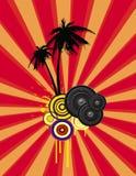 Insecto do partido da praia ilustração do vetor