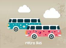 Conceito retro do ônibus Foto de Stock