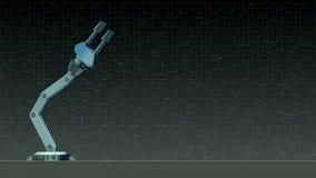 Conceito robótico do braço ilustração stock