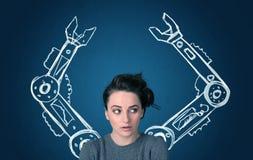 Conceito robótico dos braços Imagens de Stock Royalty Free
