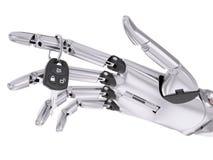 Conceito robótico inteligente da ilustração de Assist System 3d do motorista ilustração royalty free