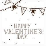 Conceito romântico do cartão. Imagens de Stock
