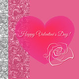 Conceito romântico Ilustração com coração floral Imagens de Stock