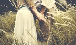 Conceito romance do amor dos pares superiores idosos Imagem de Stock