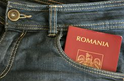 Conceito romeno da imigração imagens de stock