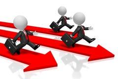 conceito running dos homens de negócios 3D ilustração stock