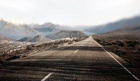 Conceito rural do destino do curso da estrada de Contry da paisagem Fotografia de Stock