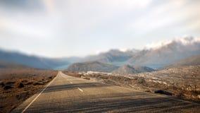 Conceito rural do destino do curso da estrada secundária da paisagem Fotografia de Stock Royalty Free