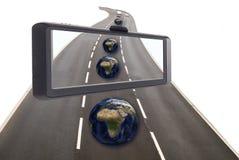 Conceito satélite da navegação Imagens de Stock Royalty Free