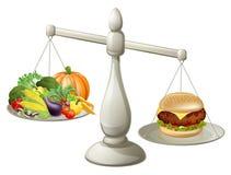 Conceito saudável da força de vontade comer ilustração stock