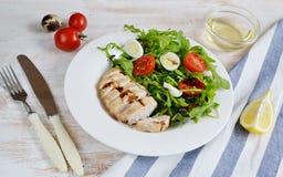 Conceito saudável da salada de frango Imagens de Stock Royalty Free