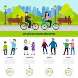 Conceito saudável de Infographic da família ilustração do vetor