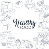 Conceito saudável do alimento Foto de Stock Royalty Free