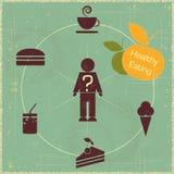 Conceito saudável do alimento ilustração do vetor