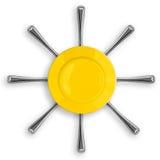 Conceito saudável do alimento com placa e forquilha Imagem de Stock