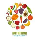 conceito saudável do alimento da nutrição ilustração do vetor