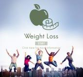 Conceito saudável do estilo de vida do exercício da aptidão da dieta da perda de peso Fotos de Stock