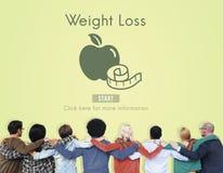 Conceito saudável do estilo de vida do exercício da aptidão da dieta da perda de peso Imagem de Stock Royalty Free