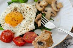 conceito saudável do pequeno almoço Comer saudável fotografia de stock royalty free