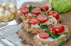 conceito saudável do pequeno almoço Comer saudável fotos de stock royalty free