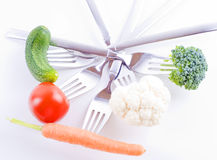 Conceito saudável do vegetariano Imagens de Stock