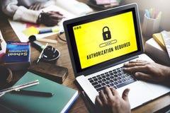 Conceito seguro da exigência da licença da privacidade da autorização fotos de stock royalty free