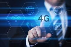 conceito sem fio móvel do negócio do Internet da rede 4G Fotografia de Stock Royalty Free