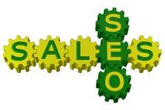 Conceito: SEO e vendas rendição 3d ilustração royalty free
