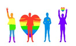 Conceito 'sexy' da minoria homossexual, lésbica ilustração do vetor