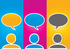 Conceito social colorido de uma comunicação dos media Imagem de Stock