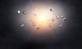 Conceito social da conexão Imagens de Stock
