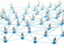 Conceito social da conexão de rede, ilustração 3d Imagem de Stock Royalty Free
